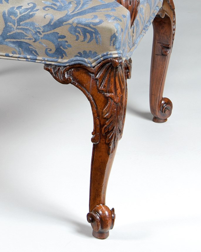 An exceptional PAIR of finely carved walnut Gainsborough armchairs | MasterArt