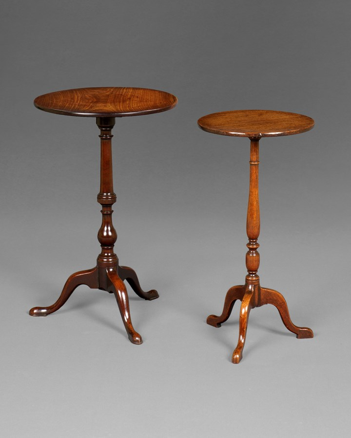 TWO SIMILAR GEORGE III TRIPOD TABLES