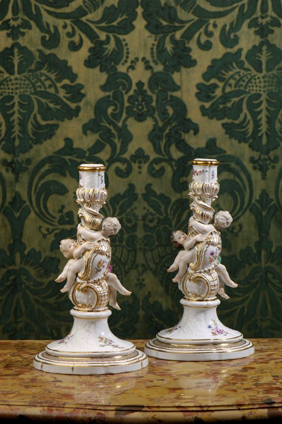 A pair of candlesticks from the service 'Gotzkowskys erhabene Blumen'  | MasterArt