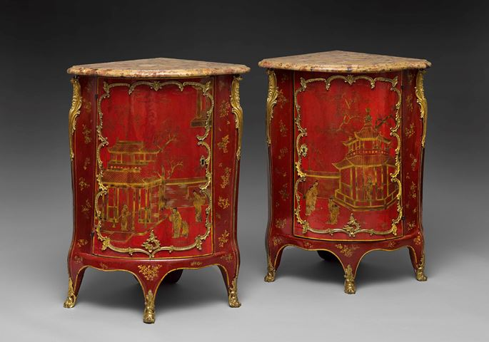 A pair of red lacquer encoignures  | MasterArt