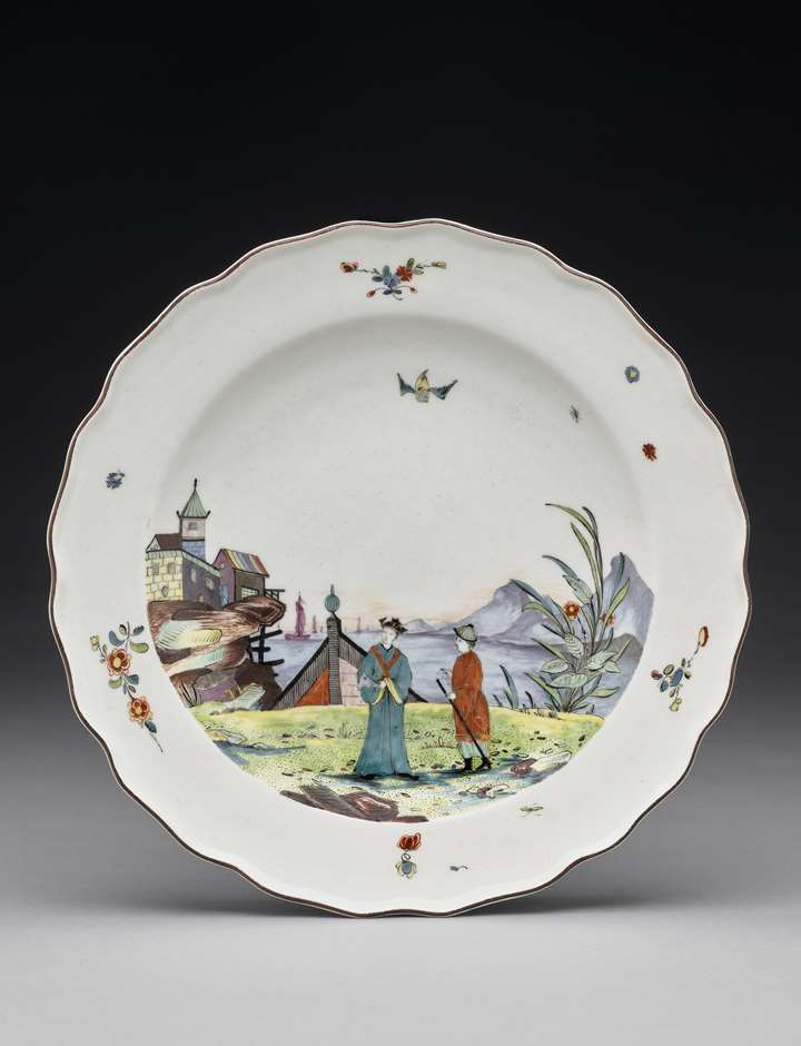 A plate from the Earl of Jersey service