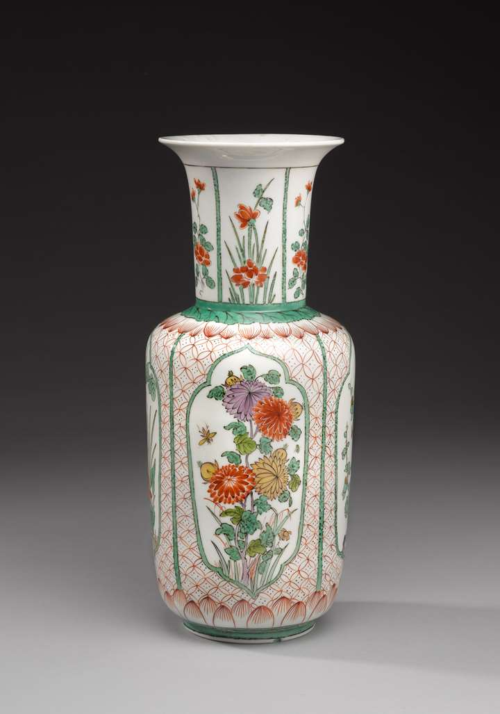 An Augustus Rex vase with floral emblems of the seasons