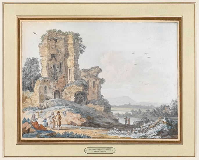 "Jacob Philipp Hackert - Pair of Gouaches ""View of Château Gaillard""  