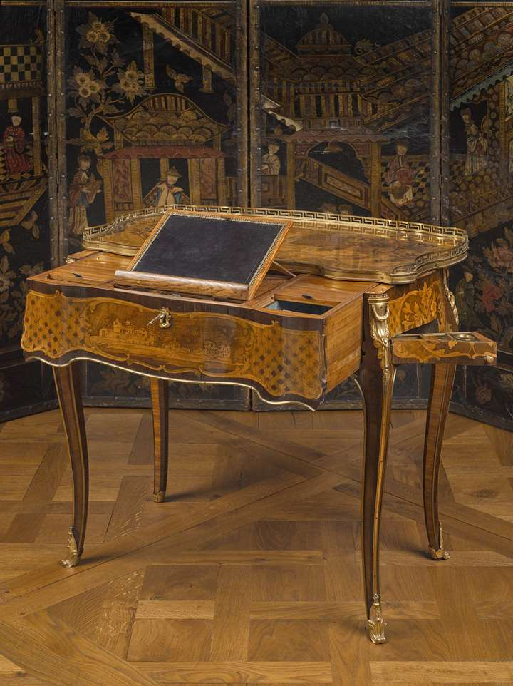 A combined writing and dressing table  (table à transformation)