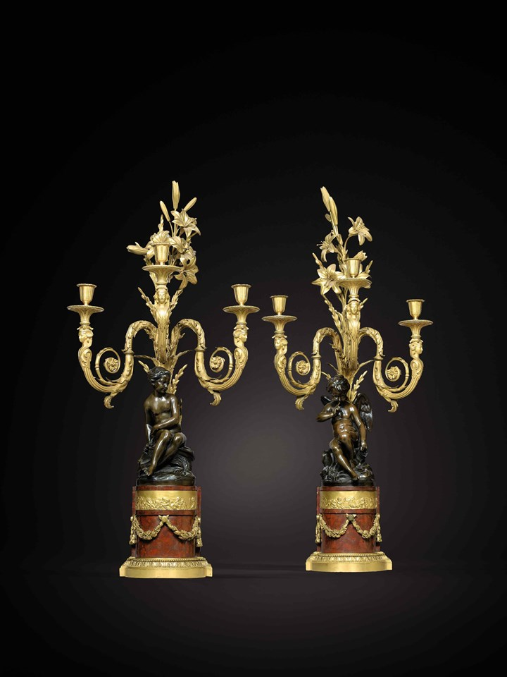Pair of Louis XVI candelabra