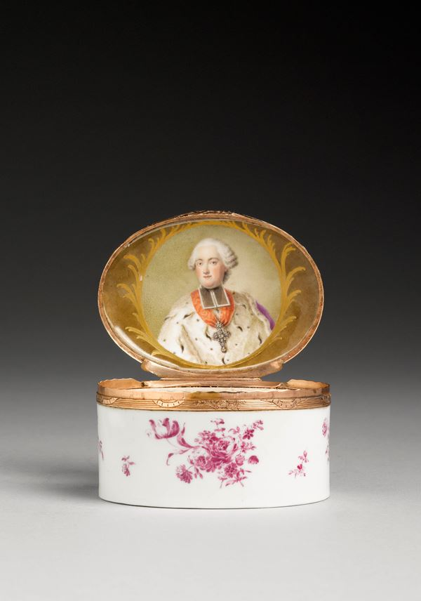Snuffbox with a portrait of Clemens Wenceslas of Saxony | MasterArt