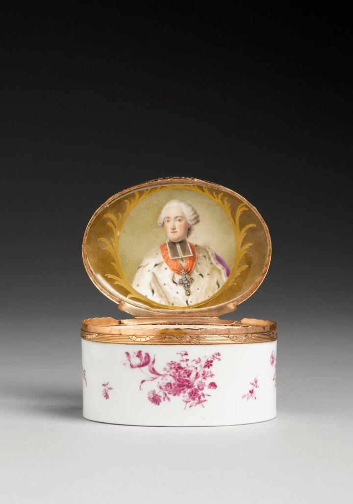 Snuffbox with a portrait of Clemens Wenceslas of Saxony