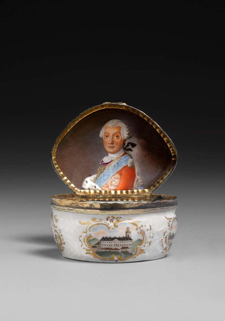 Snuffbox with architectural views and a portrait of Ludwig Günther II of Schwarzburg-Rudolstadt