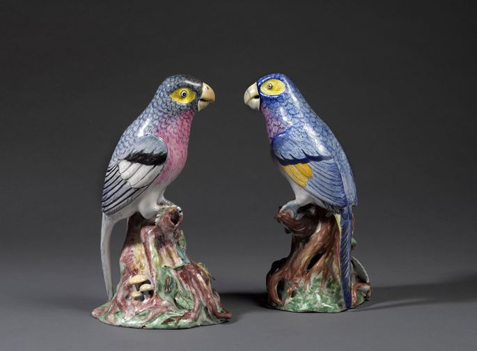 Two faience parrots  | MasterArt