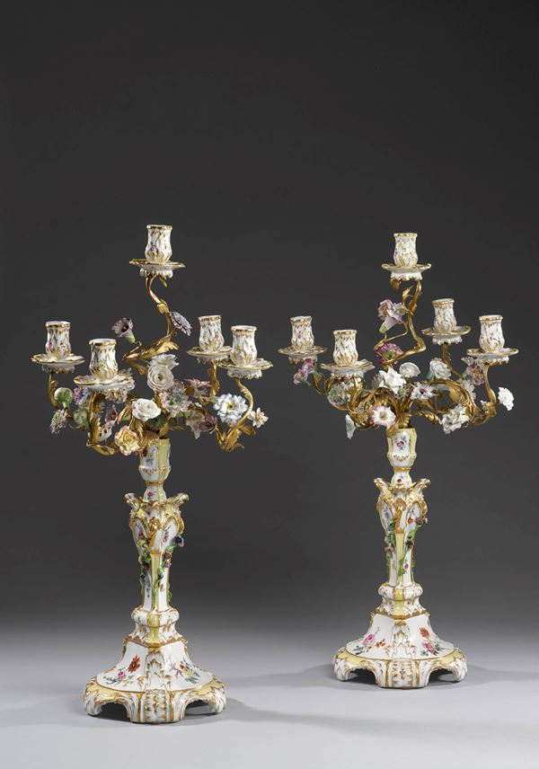 Very rare pair five-armed candelabra | MasterArt