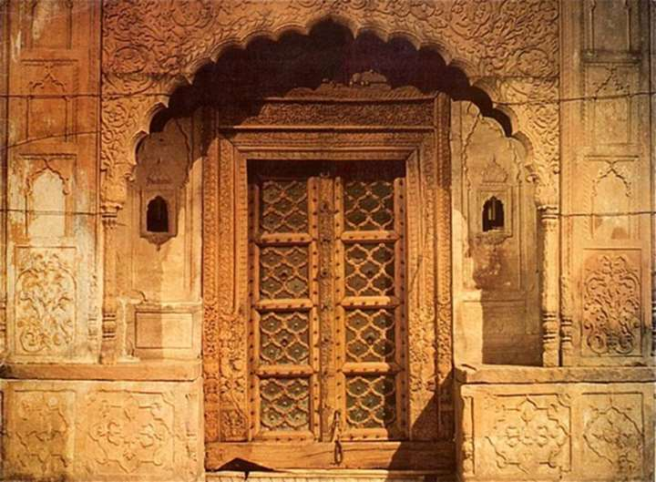 Entrance to a Palace from Rajasthan India