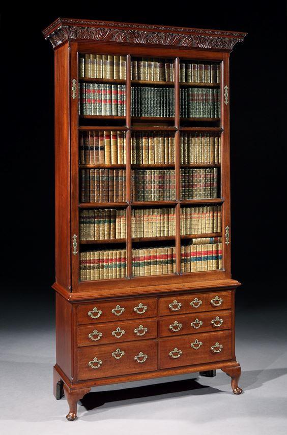 A GEORGE II MAHOGANY BOOKCASE  | MasterArt