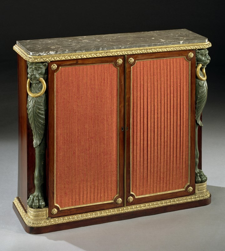 A REGENCY SIDE CABINET IN THE MANNER OF GEORGE SMITH