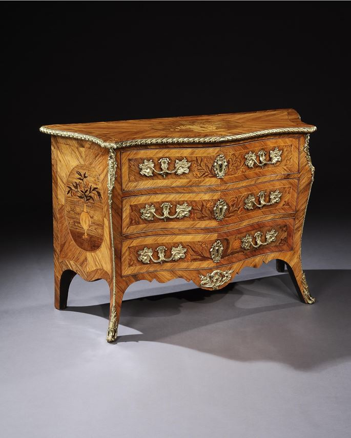 Pierre Langlois - A GEORGE III ORMOLU MOUNTED KINGWOOD COMMODE | MasterArt
