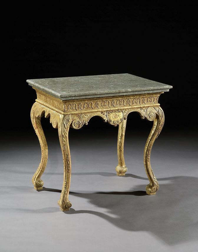 A GEORGE I GILT GESSO SIDE TABLE   | MasterArt