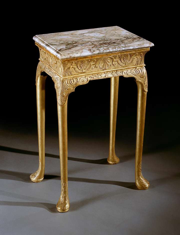 A QUEEN ANNE GESSO TABLE