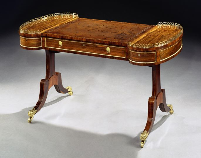 A REGENCY ROSEWOOD WRITING TABLE | MasterArt