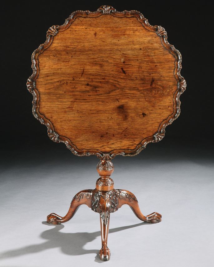 A GEORGE II ANGLO-CHINESE ROSEWOOD TRIPOD TABLE    | MasterArt