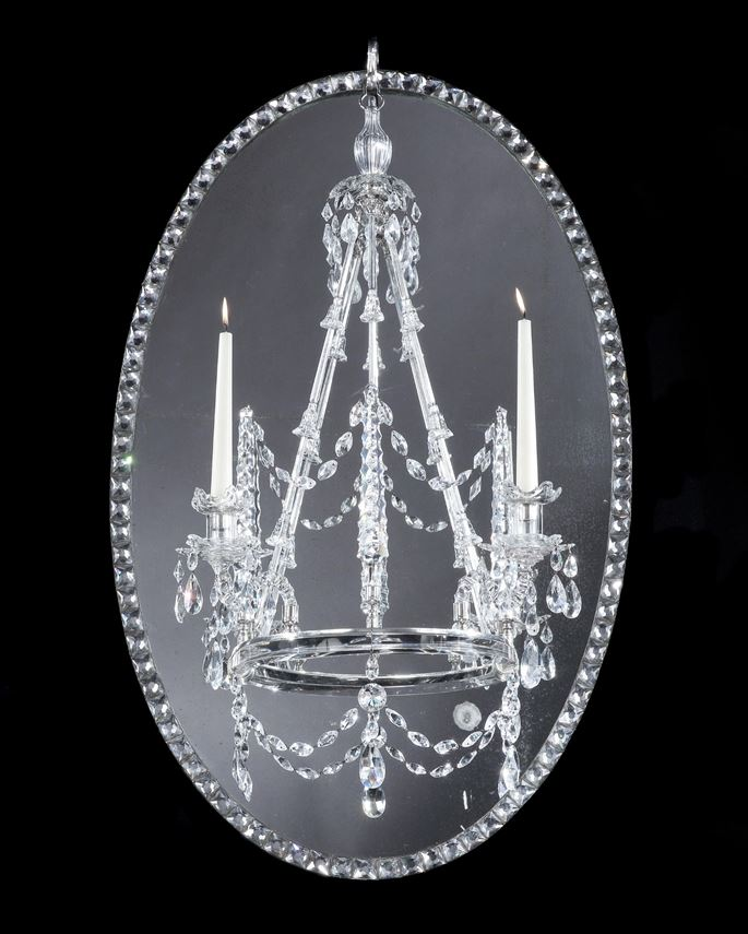 A LARGE IRISH GEORGE III MIRROR CHANDELIER | MasterArt