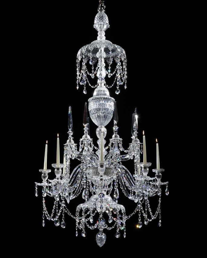 A GEORGE III CUT GLASS EIGHT LIGHT CHANDELIER ATTRIBUTED TO WILLIAM PARKER & SON | MasterArt