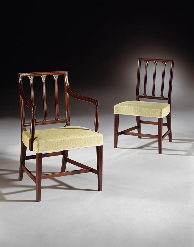 A SET OF EIGHT GEORGE III MAHOGANY DINING CHAIRS  | MasterArt