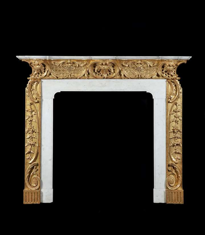 A GEORGE II CHIMNEYPIECE TO A DESIGN