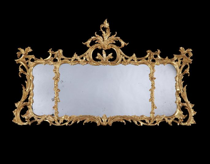 A GEORGE II GILTWOOD OVERMANTEL MIRROR | MasterArt