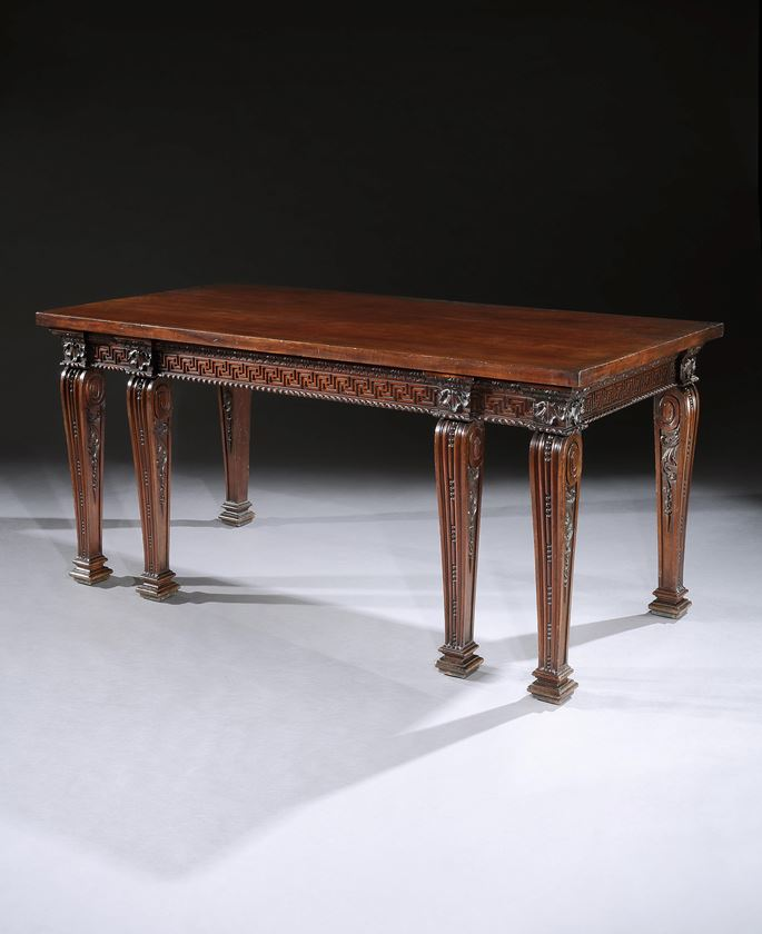 William Linnell - A GEORGE II MAHOGANY SIDE TABLE | MasterArt