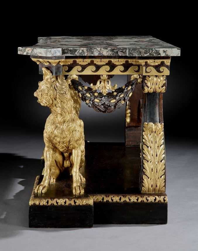 William  Kent - A George II Parcel Gilt Side Table Attributed | MasterArt