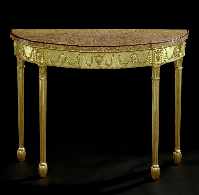 A GEORGE III CARVED GILTWOOD SIDE TABLE | MasterArt