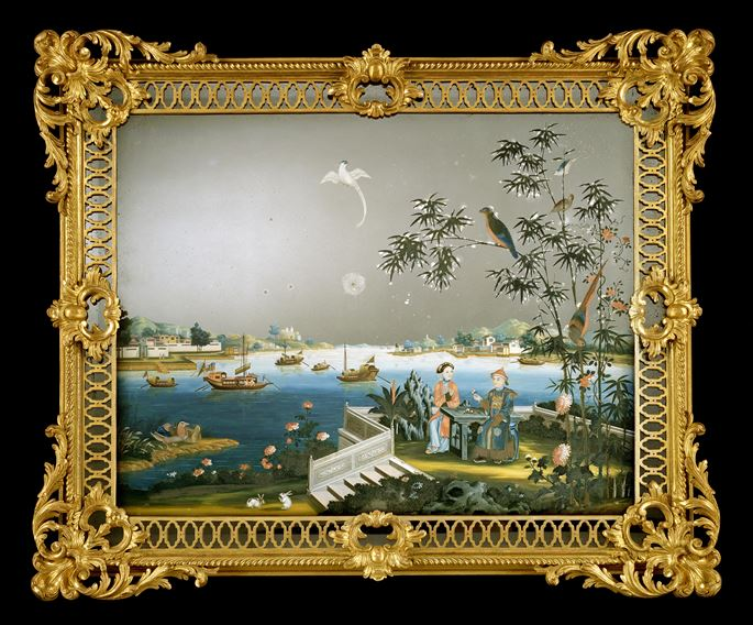 A GEORGE III CHINESE EXPORT MIRROR PAINTING   | MasterArt