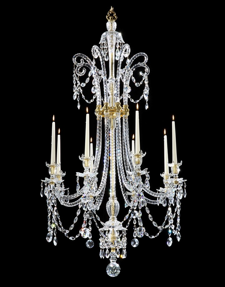 A GEORGE III EIGHT LIGHT CHANDELIER, NO. 426