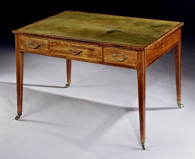 A GEORGE III DOUBLE-SIDED ROSEWOOD WRITING TABLE | MasterArt