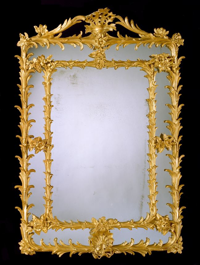 A GEORGE III GILT 'COMPOSITION' BORDER GLASS MIRROR | MasterArt