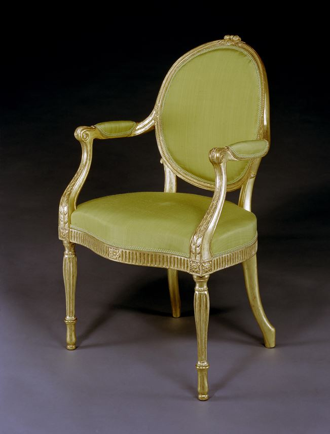Thomas Chippendale - A GEORGE III GILTWOOD ARMCHAIR | MasterArt