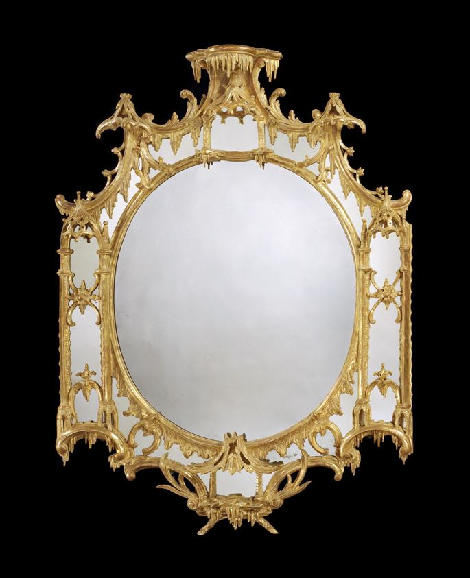 A GEORGE III GILTWOOD BORDER GLASS MIRROR | MasterArt