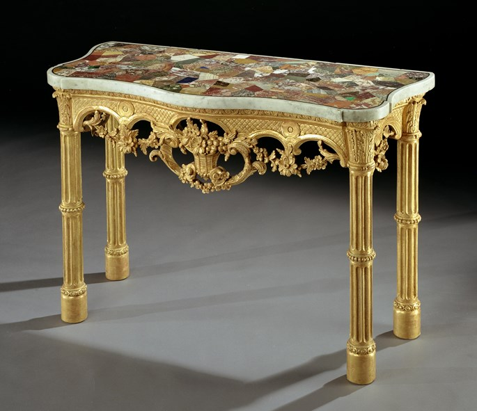 A GEORGE III GILTWOOD SIDE TABLE | MasterArt