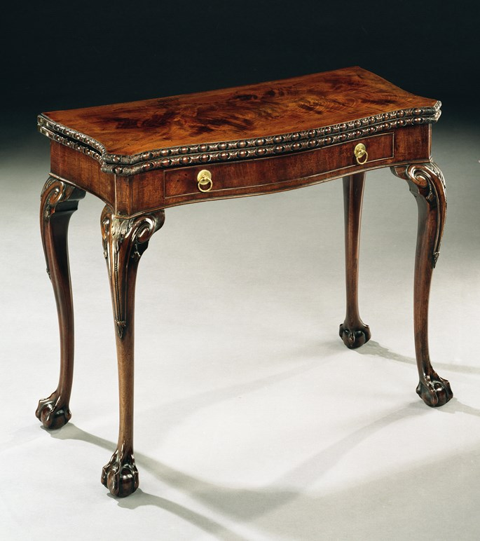 A GEORGE III MAHOGANY CARD TABLE | MasterArt