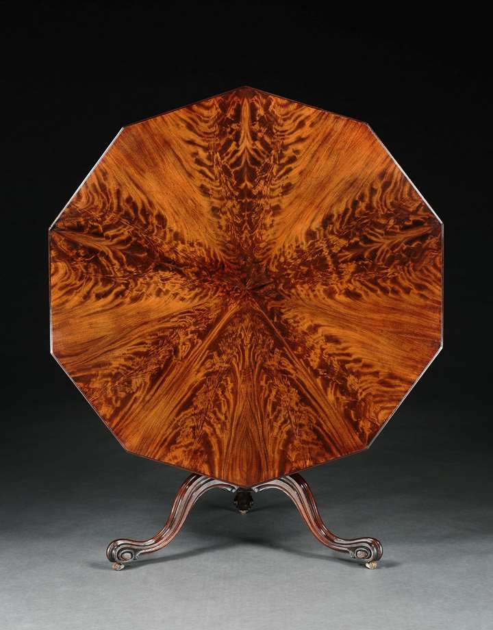 A GEORGE III MAHOGANY DECAGONAL TRIPOD TABLE ATTRIBUTED TO THOMAS CHIPPENDALE