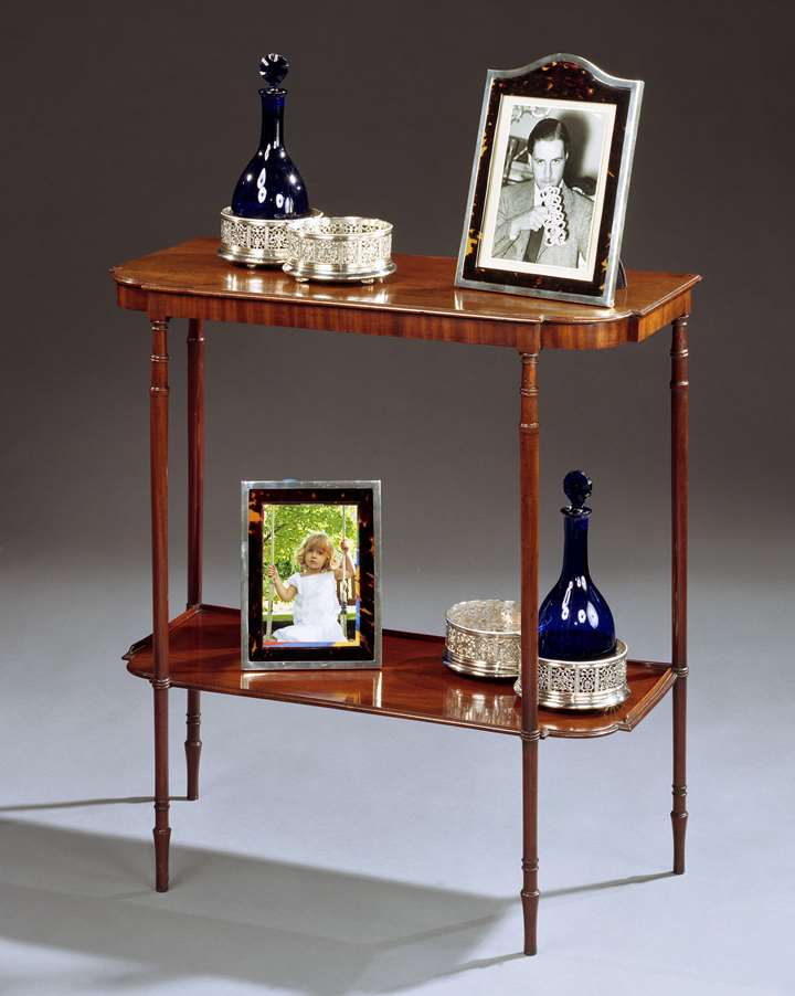 A GEORGE III MAHOGANY SIDE TABLE