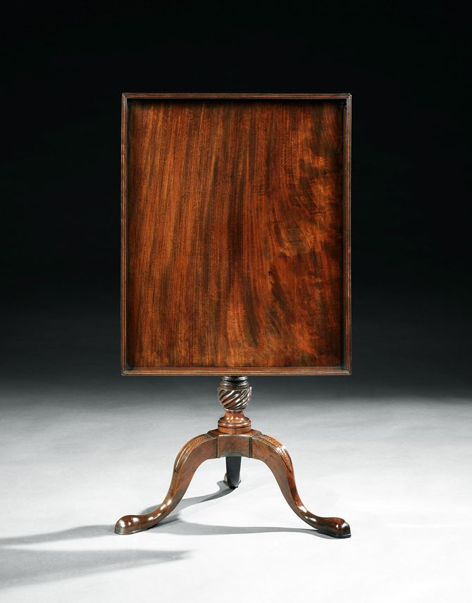 A GEORGE III MAHOGANY TRIPOD TABLE | MasterArt