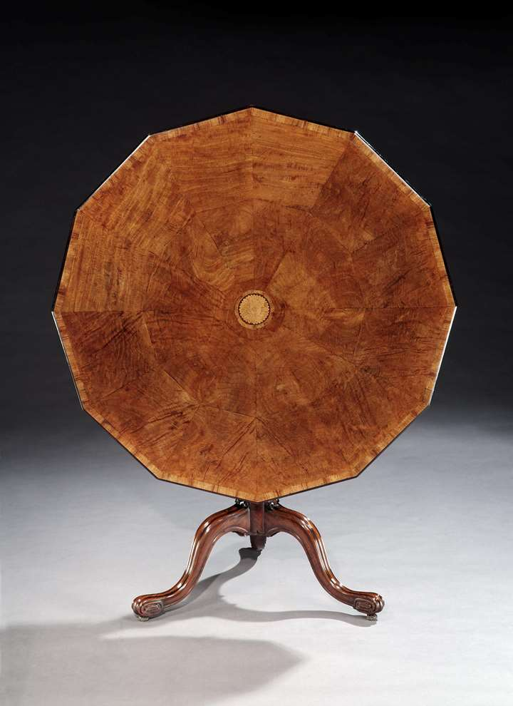 A GEORGE III PADOUK TRIPOD TABLE ATTRIBUTED TO THOMAS CHIPPENDALE