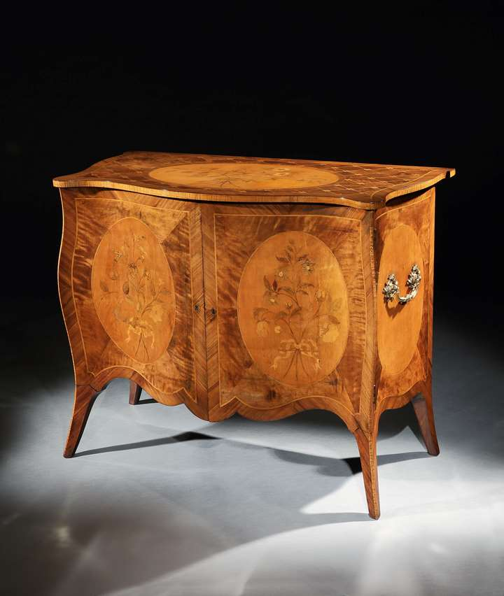 A GEORGE III COMMODE