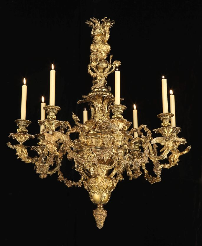 Johnston Brookes & CO - A GEORGE IV EIGHT LIGHT BRASS CHANDELIER | MasterArt