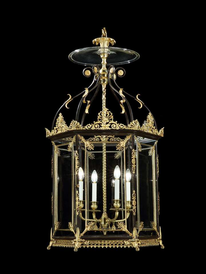 A huge regency brass lantern