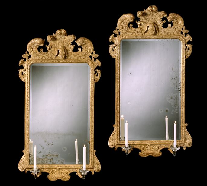 A PAIR OF GEORGE I GESSO MIRRORS | MasterArt