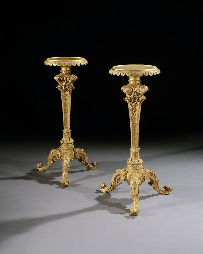A PAIR OF GEORGE II GILTWOOD TORCHÈRES   | MasterArt