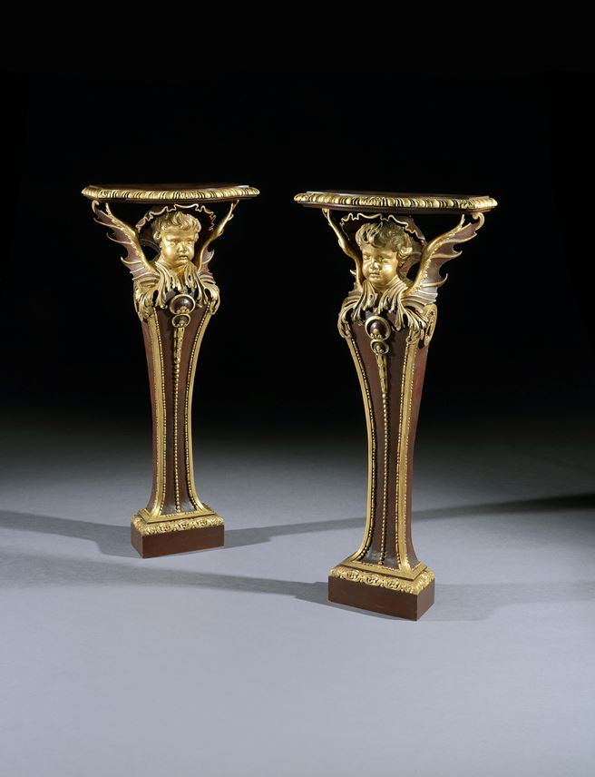 A PAIR OF GEORGE II PARCEL GILT TERMS BY JAMES RICHARDS | MasterArt