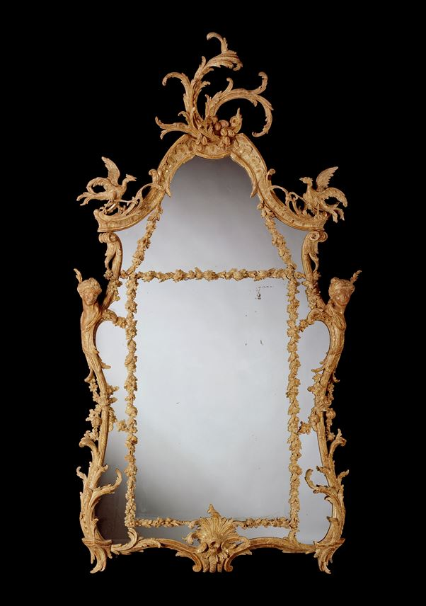 A PAIR OF GEORGE III CARVED GILTWOOD PIER MIRRORS  | MasterArt