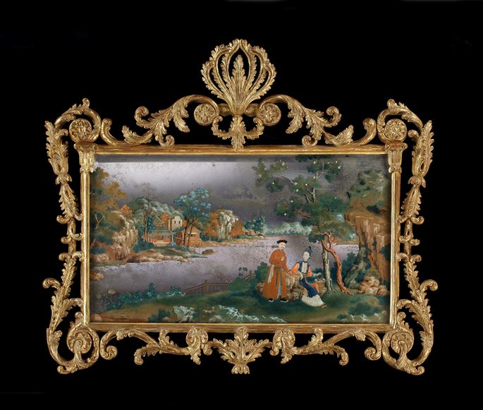 A PAIR OF GEORGE III CHINESE EXPORT MIRROR PAINTINGS | MasterArt
